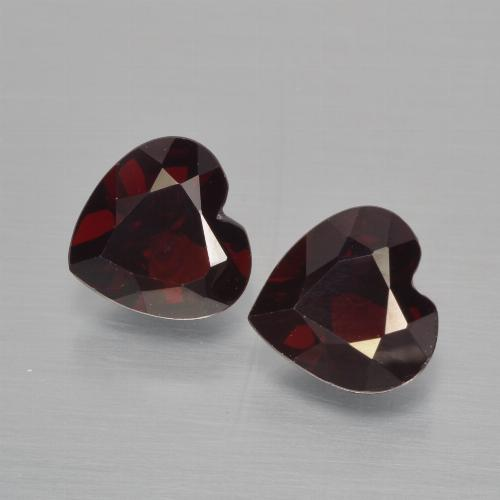 Deep Red Pyrope Garnet Gem - 0.9ct Heart Facet (ID: 456456)