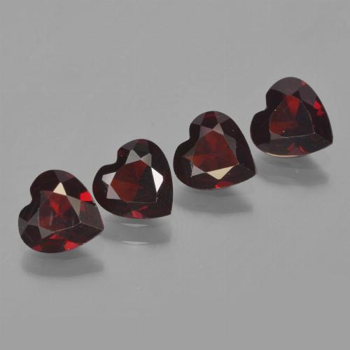 Deep Red Pyrope Garnet Gem - 0.7ct Heart Facet (ID: 456529)