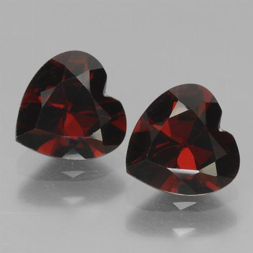 Red Pyrope Garnet Gem - 0.9ct Heart Facet (ID: 456536)