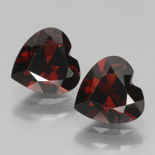 Red Pyrope Garnet Gem - 0.9ct Heart Facet (ID: 456537)