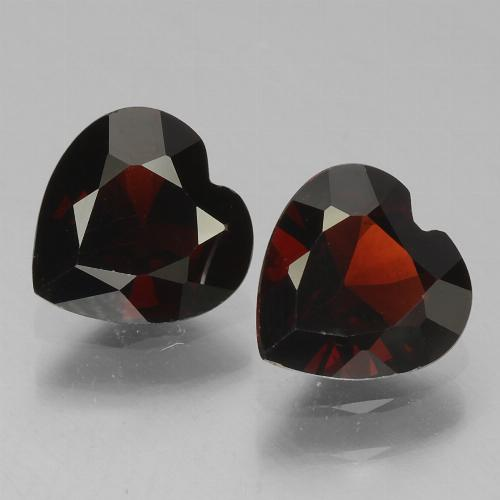 Deep Red Pyrope Garnet Gem - 0.9ct Heart Facet (ID: 456540)