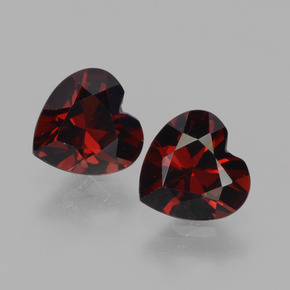 Red Pyrope Garnet Gem - 0.9ct Heart Facet (ID: 456620)