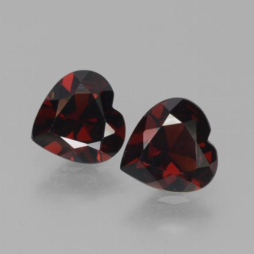 Dark Red Pyrope Garnet Gem - 0.8ct Heart Facet (ID: 456626)