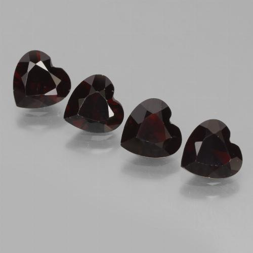 Deep Red Pyrope Garnet Gem - 0.8ct Heart Facet (ID: 456659)