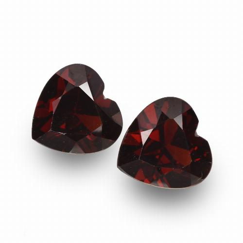 Blackish Red Granate Piropo Gema - 0.9ct Forma de corazón (ID: 456697)