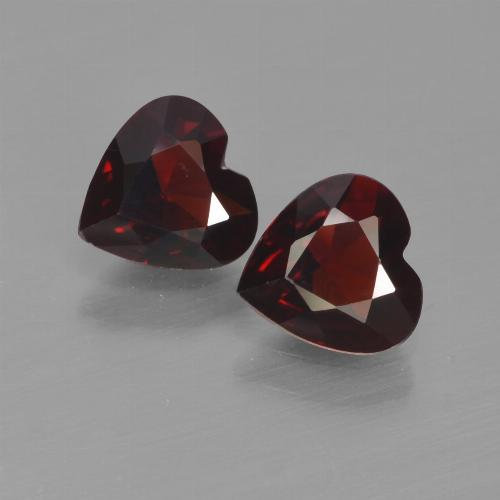 Deep Red Pyrope Garnet Gem - 0.7ct Heart Facet (ID: 456709)