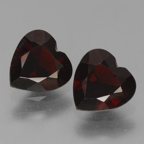 Blackish Red Pyrope Garnet Gem - 0.8ct Heart Facet (ID: 456725)