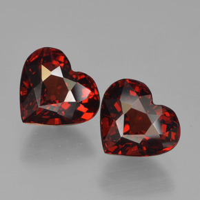 Red Pyrope Garnet Gem - 1.7ct Heart Facet (ID: 456744)