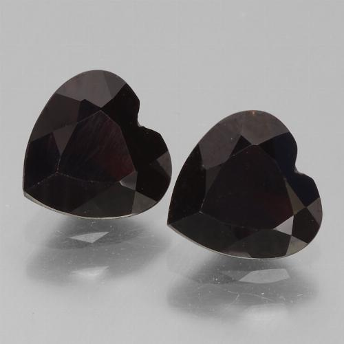 Dark Red Pyrope Garnet Gem - 0.9ct Heart Facet (ID: 456760)