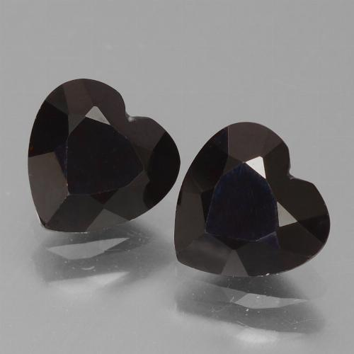 Blackish Red Pyrope Garnet Gem - 0.9ct Heart Facet (ID: 456764)