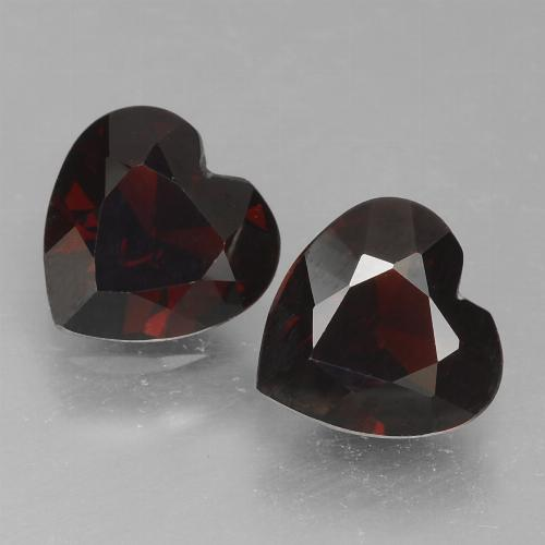 Deep Red Pyrope Garnet Gem - 0.8ct Heart Facet (ID: 456770)