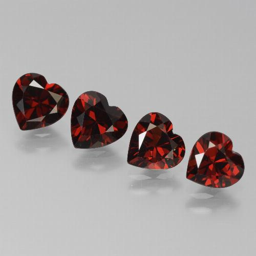 Red Pyrope Garnet Gem - 0.8ct Heart Facet (ID: 456786)