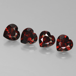 Red Pyrope Garnet Gem - 0.8ct Heart Facet (ID: 456789)