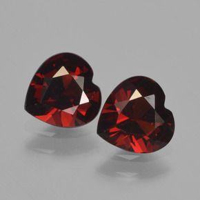 Red Pyrope Garnet Gem - 0.8ct Heart Facet (ID: 457003)