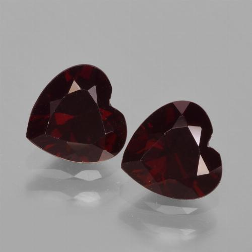Deep Red Pyrope Garnet Gem - 1ct Heart Facet (ID: 457006)