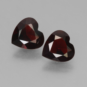 Dark Red Pyrope Garnet Gem - 0.7ct Heart Facet (ID: 457012)