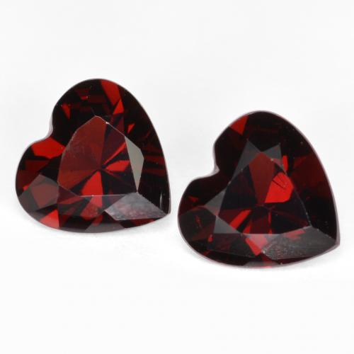 Red Pyrope Garnet Gem - 0.8ct Heart Facet (ID: 457015)