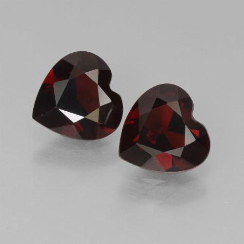 Red Pyrope Garnet Gem - 0.8ct Heart Facet (ID: 457022)