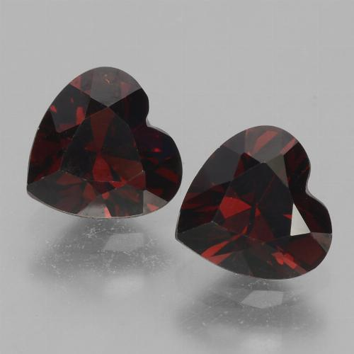 Deep Red Pyrope Garnet Gem - 0.9ct Heart Facet (ID: 457076)