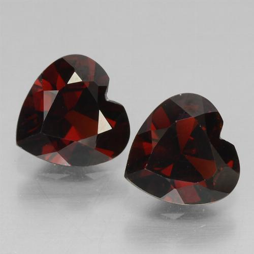 Deep Red Pyrope Garnet Gem - 0.8ct Heart Facet (ID: 457082)