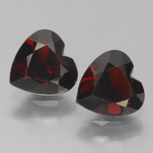 Blackish Red Pyrope Garnet Gem - 0.9ct Heart Facet (ID: 457143)
