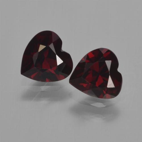 Deep Red Pyrope Garnet Gem - 0.9ct Heart Facet (ID: 457144)