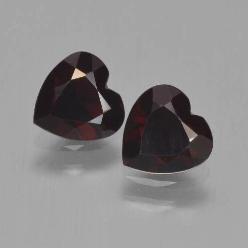 Red Pyrope Garnet Gem - 0.8ct Heart Facet (ID: 457145)