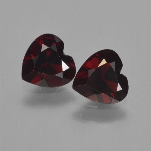 Dark Red Pyrope Garnet Gem - 0.8ct Heart Facet (ID: 457152)