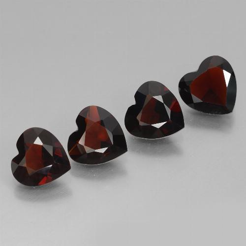 thumb image of 0.8ct Heart Facet Deep Red Pyrope Garnet (ID: 457183)