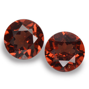 Red Pyrope Garnet Gem - 1ct Round Facet (ID: 457395)
