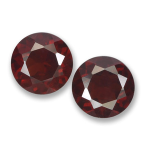 Deep Red Pyrope Garnet Gem - 1.1ct Round Facet (ID: 457504)