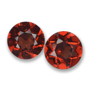 Deep Red Pyrope Garnet Gem - 1ct Round Facet (ID: 457509)