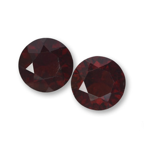 Dark Red Pyrope Garnet Gem - 1.1ct Round Facet (ID: 457576)