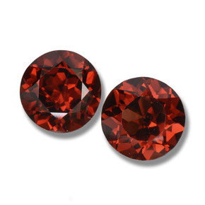 Deep Blood Red Pyrope Garnet Gem - 1.1ct Round Facet (ID: 457633)