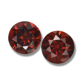 Deep Red Pyrope Garnet Gem - 1ct Round Facet (ID: 457634)