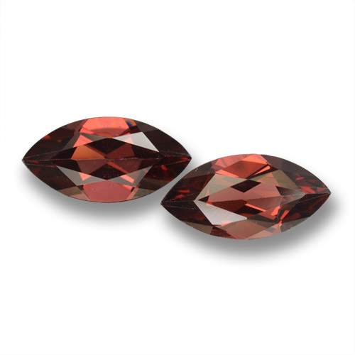 Red Pyrope Garnet Gem - 2ct Marquise Facet (ID: 462009)