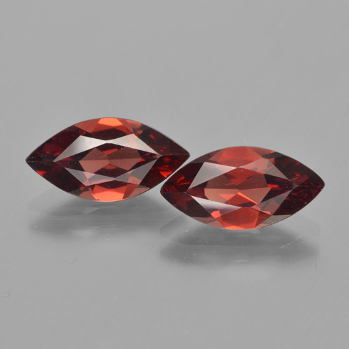 1.8ct Marquise facette Deep Blood Red Grenat Pyrope gemme (ID: 463281)