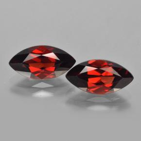 2.3ct Marquise facette Deep Blood Red Grenat Pyrope gemme (ID: 463282)