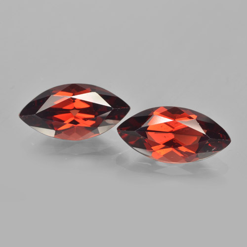 2.2ct Marquise facette Deep Blood Red Grenat Pyrope gemme (ID: 463284)