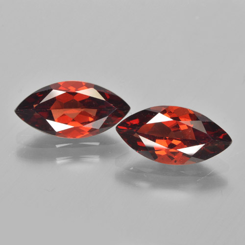 1.9ct Marquise Facet Medium Red Pyrope Garnet Gem (ID: 463285)