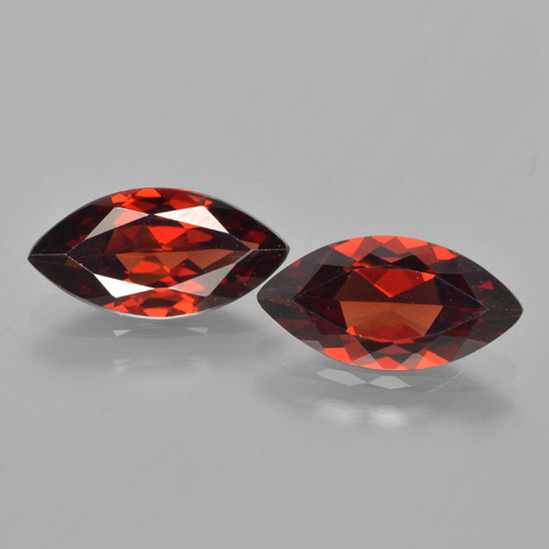 Deep Red Pyrope Garnet Gem - 1.8ct Marquise Facet (ID: 463287)