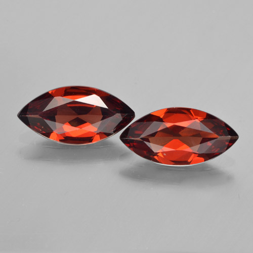 1.6ct Marquise Facet Dark Red Pyrope Garnet Gem (ID: 463289)
