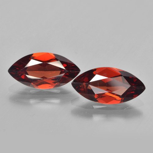 1.8ct Marquise Facet Dark Red Pyrope Garnet Gem (ID: 463290)