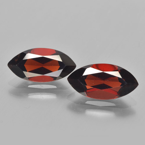 Deep Red Pyrope Garnet Gem - 2.1ct Marquise Facet (ID: 463292)