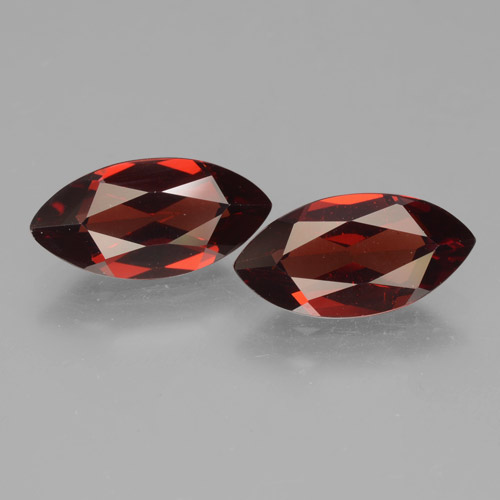 2.1ct Marquise Facet Dark Red Pyrope Garnet Gem (ID: 463332)