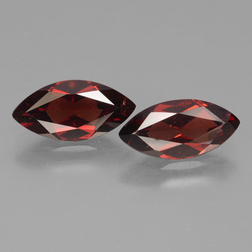 2ct Marquise facette Deep Blood Red Grenat Pyrope gemme (ID: 463333)