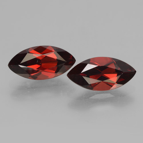 2.1ct Marquise Facet Deep Red Pyrope Garnet Gem (ID: 463336)