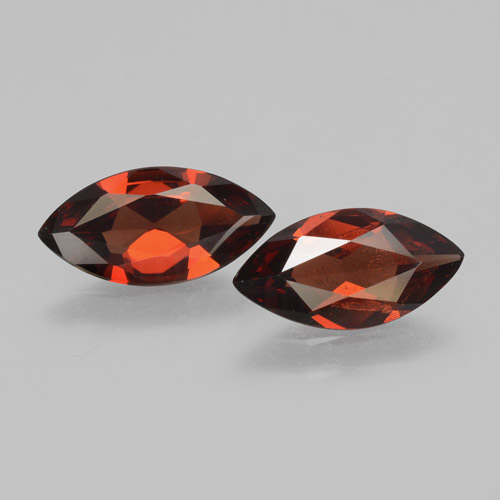 Red Pyrope Garnet Gem - 1.6ct Marquise Facet (ID: 463378)