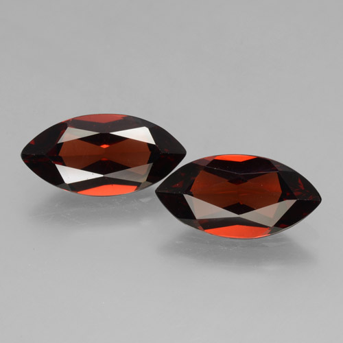 1.9ct Marquise Facet Sangria Red Pyrope Garnet Gem (ID: 463438)