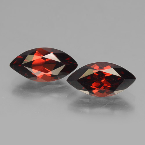 2ct Marquise Facet Deep Red Pyrope Garnet Gem (ID: 463440)